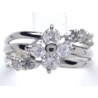 プラチナ 1ct ダイヤモンド リング(リング(指輪))