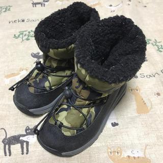 17cm Achiles カモフラ柄 迷彩 スノーブーツ ウォータープルーフ(ブーツ)