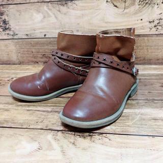ザラキッズ(ZARA KIDS)のZARA kids ショートブーツ ブラウン 革靴  星 スター 18cm(ブーツ)
