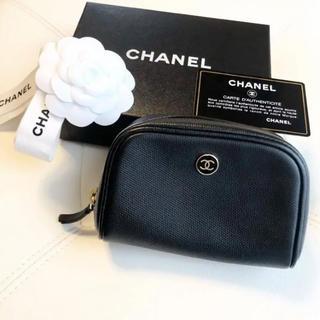 CHANEL - 【美品】CHANEL シャネル ココボタン ポーチ ブラック 黒色