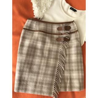 バーバリー(BURBERRY)のウールチェックスカート 36 ♥︎BODY DRESSING Deluxe♥︎(ひざ丈スカート)