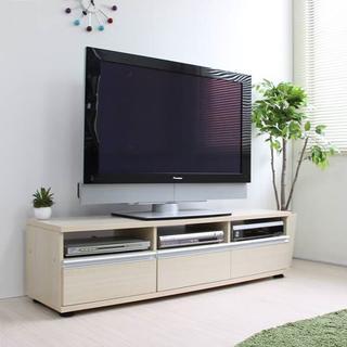 テレビ台 ローボード 140cm幅 収納 50 60インチ対応 メープル J