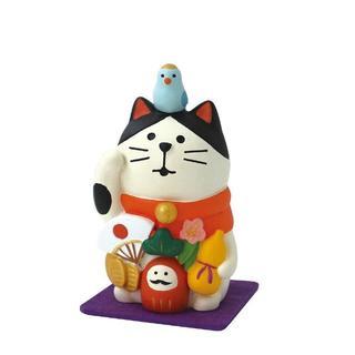 新品・デコレ コンコンブル 万福まねき猫 (フェルトマット付き)送料無料(置物)