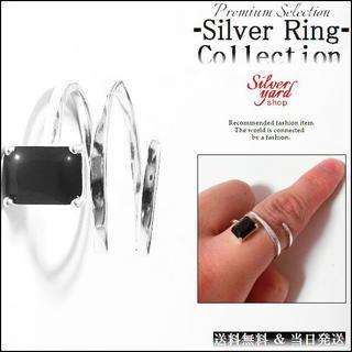 [365]指輪 フリーサイズ シルバー メンズ レディース リング ジュエリー(リング(指輪))