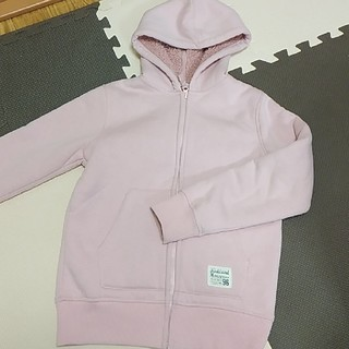 ジーユー(GU)のGU もこもこパーカー 起毛 150cm 女児 ピンク(ジャケット/上着)