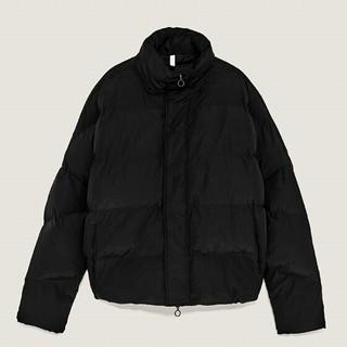 ザラ(ZARA)のZARAザラメンズ防寒対策ブラックショットジャケット(ダウンジャケット)