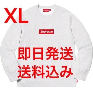 シュプリーム(Supreme)のXL 2018FW supreme Box Logo Crewneck グレー(スウェット)