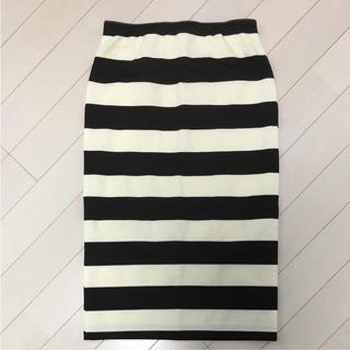 アウラアイラ(AULA AILA)のアウラアイラ ボーダータイトスカート(ひざ丈スカート)
