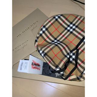 バーバリー(BURBERRY)の【確実正規品】BURBERRY × Vivienne Westwood ベレー帽(ハンチング/ベレー帽)
