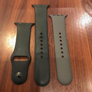 アップルウォッチ(Apple Watch)の(純正品) Apple Watch バンド 42mm ブラック(ラバーベルト)