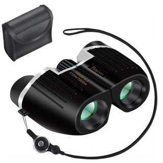 コンパクトで使いやすい!双眼鏡 10倍 10×22 ストラップ付 ブラック(その他)