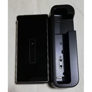 NTTdocomo - 美品 ドコモガラホ SH-06G ブラック 卓上ホルダ付