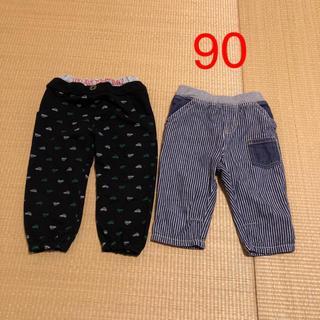 サンカンシオン(3can4on)の七分丈ズボン 90 2枚セット(パンツ/スパッツ)