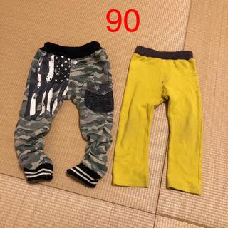 シマムラ(しまむら)の長ズボン 90 2枚セット(パンツ/スパッツ)
