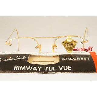 B&L 1950s 12KGF RIMWAY 「デッド」ビンテージフレーム(サングラス/メガネ)