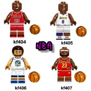 【4体セット】NBA レゴ互換 マイケルジョーダン コービーブライアント他(スポーツ)