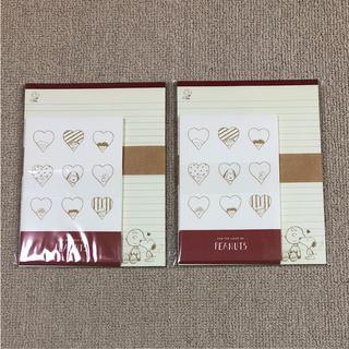 スヌーピー(SNOOPY)の新品  スヌーピー レターセット(ノート/メモ帳/ふせん)
