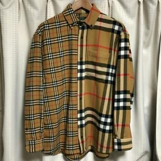 バーバリー(BURBERRY)のgosharubchinskiy Burberry フランネルシャツ(シャツ)