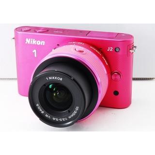 オリンパス(OLYMPUS)の★かわいいピンクカラー★Nikon 1 J2★人気モデル(ミラーレス一眼)
