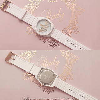 アディダス(adidas)のadidas 腕時計 ホワイト  (腕時計)