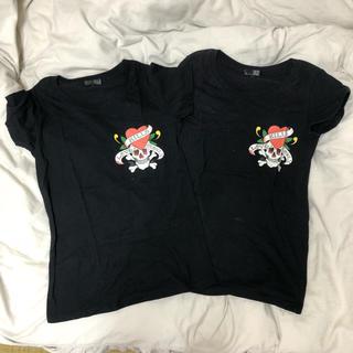 エドハーディー(Ed Hardy)の最終値下げ【Ed Hardy】Tシャツ2点セット MとL(Tシャツ(半袖/袖なし))