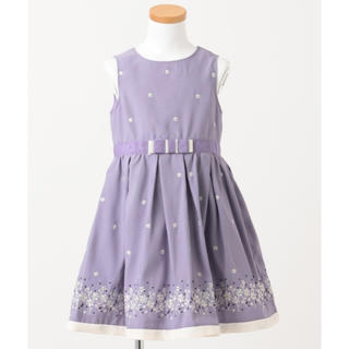 kumikyoku(組曲) - 新品 組曲 ワンピース 130 可愛い フォーマル  紫 ドレス 女の子