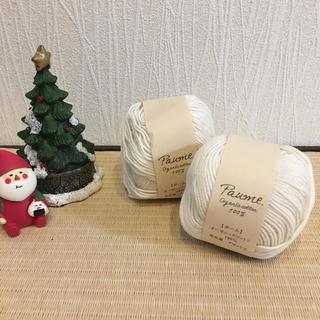 【未使用・新品】Paume ポーム オーガニックコットン 100% 2玉  (生地/糸)