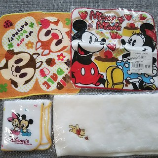 ディズニー(Disney)の【新品 未開封】タオル ハンカチ 4枚 セット ディズニー Disney(その他)