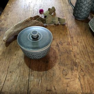 アラビア(ARABIA)のKronjyden  Blue Azurシュガーポット クロニーデン アズール (グラス/カップ)