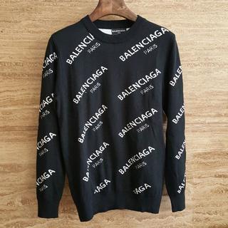 バレンシアガ(Balenciaga)のバレンシアガ BALENCIAGA セーター 黒 Lサイズ 人気美品(ニット/セーター)