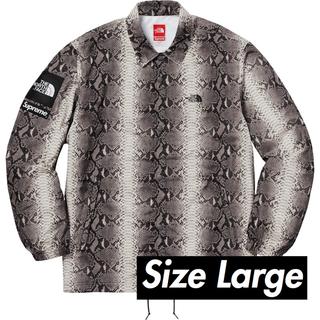 L Supreme Snakeskin Coaches Jacket