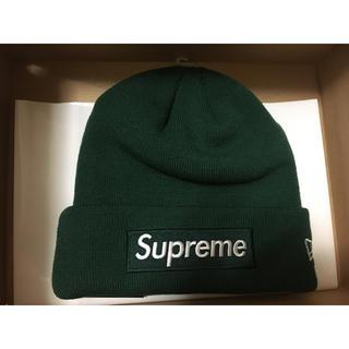 シュプリーム(Supreme)のシュプリーム ニューエラ ボックスロゴ ビーニー ニット帽 緑 green(ニット帽/ビーニー)