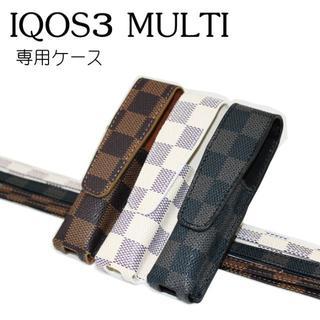 IQOS3 アイコス3 MULTI 対応 チェック柄 ケース(タバコグッズ)