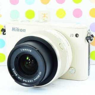 ニコン(Nikon)の✨激レア柔ベージュ✨可愛い本格派✨ニコン NIKON 1 J3(ミラーレス一眼)