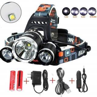 【ライトの角度調整可能♪】 LEDヘッドライト 充電式 ヘッドライト(ライト/ランタン)