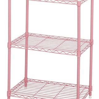 ☆ピンクで可愛い☆ アイリスオーヤマ メタルラック 3段