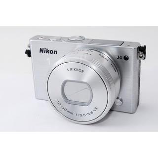 ニコン(Nikon)の☆Wi-Fi搭載モデル!タッチパネル対応☆ニコン J4 シルバー(ミラーレス一眼)