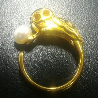 フクロウ(不苦労)リング アコヤ真珠(リング(指輪))