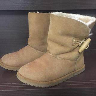 ザラ(ZARA)のザラ ガールズ フェイク ムートンブーツ 18cm(ブーツ)