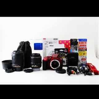 ニコン(Nikon)のショット極少!!Nikon ニコン D5500 Wレンズセット♪(デジタル一眼)