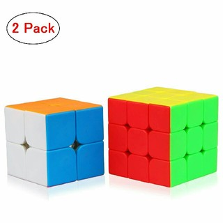 競技基準ルービックキューブ 2個セット2x2 3x3x3 回転テンション調節可能