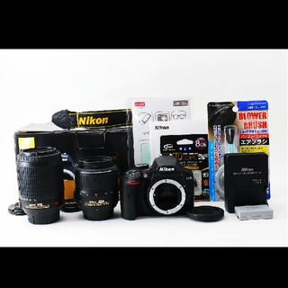 ニコン(Nikon)の超高画質でBluetooth搭載♪Nikon ニコン D3400 Wレンズセット(デジタル一眼)