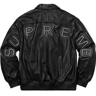 シュプリーム(Supreme)のSサイズ supreme lether jacket ブラック(レザージャケット)