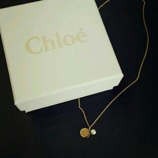クロエ(Chloe)のChloe♡パール付ゴールドネックレス♡(ネックレス)