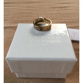 マルタンマルジェラ(Maison Martin Margiela)の18AW新品 マルジェラ ナンバリング ロゴ ツートーン リング 今季(リング(指輪))