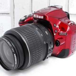 ニコン(Nikon)の★セルフィ&驚愕の2410万画素★Nikon D5200 レッド (デジタル一眼)