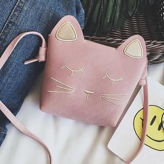 新品★ 猫ちゃん ショルダーバッグ ピンク(ポシェット)