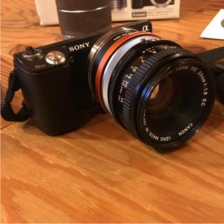 ソニー(SONY)のSONY NEX-5N ダブルレンズキット+canon FD f1.8 50mm(ミラーレス一眼)