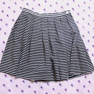 ジーユー(GU)のミニ丈♡キュロットスカート♡しましま(スカート)