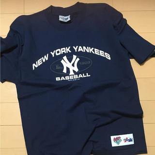ニューヨークヤンキース!未使用マジェスティックのロゴTシャツ